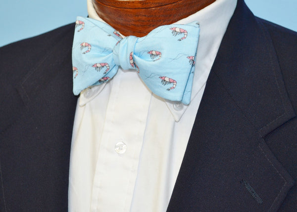 Blue Shrimp Bow Tie