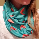 Handmade Barry Beaux Infinity Scarf With Shrimp Design