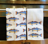 Spottail Bass Linen Tea Towels By Barry Beaux