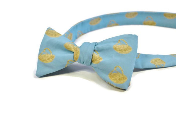 Charleston Sweetgrass Basket Blue Bow Tie