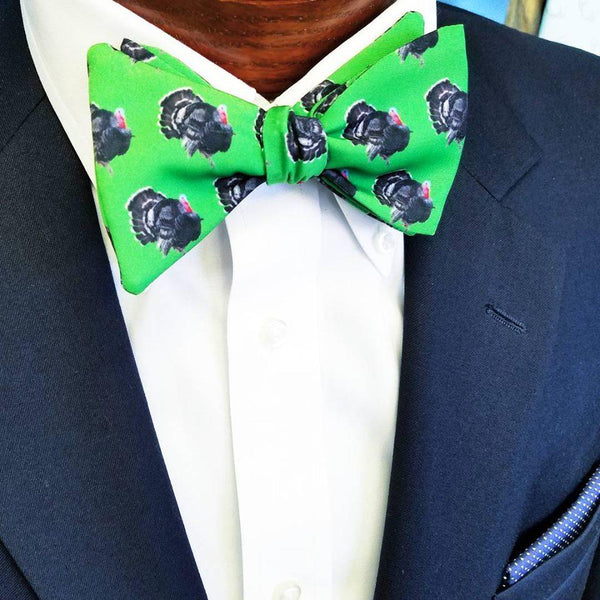 Turkey Green Bow Tie