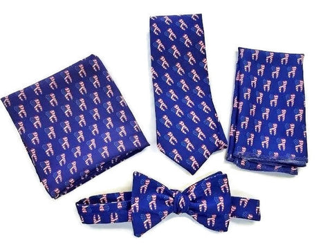 american dental association tie, bow tie, scarf, and pocket square