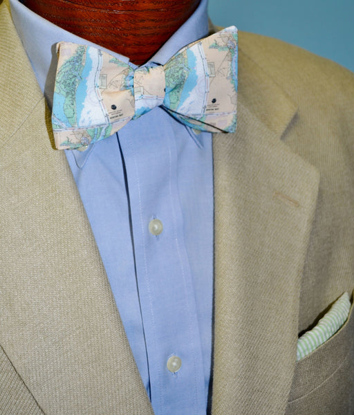 Winyah Bay Map Bow Tie