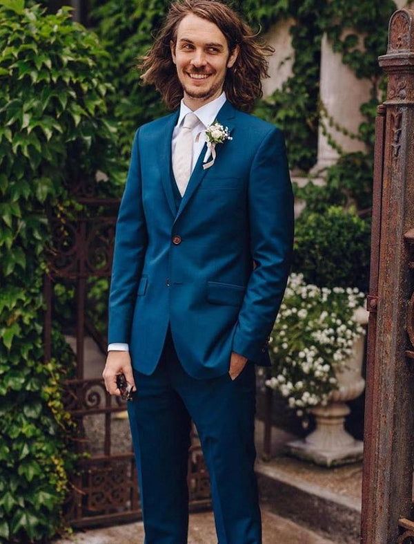 "Mr James House Collection Two Piece ""Marina""Blue Wedding suit - Mr James Store"