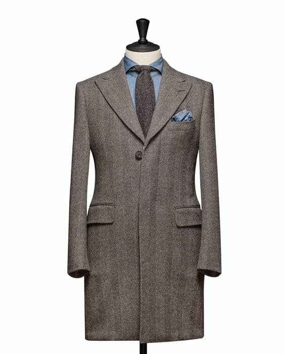 """The London"" Herringbone Overcoat - Mr James Store"