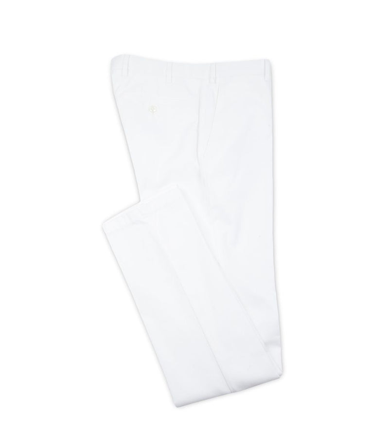 White Larvotto Trouser - Mr James Store