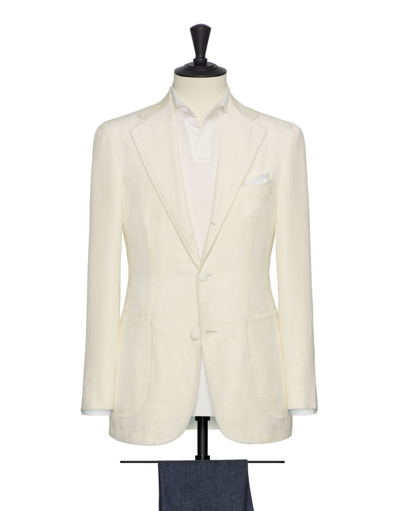 Ivory Velvet Blazer - Mr James Store
