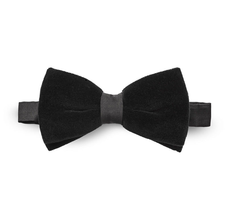 Black Velvet tie - Mr James Store