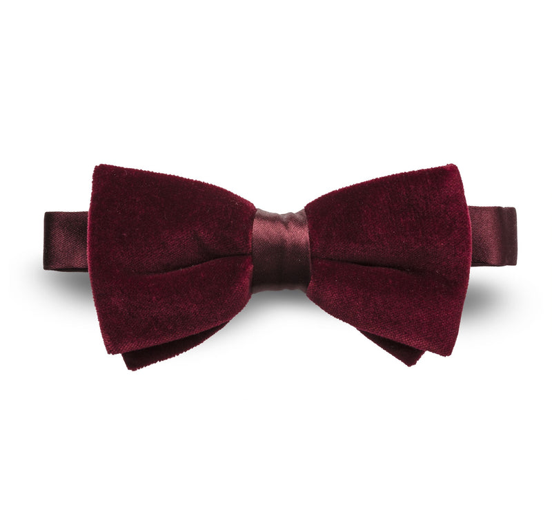 Maroon Velvet Tie - Mr James Store