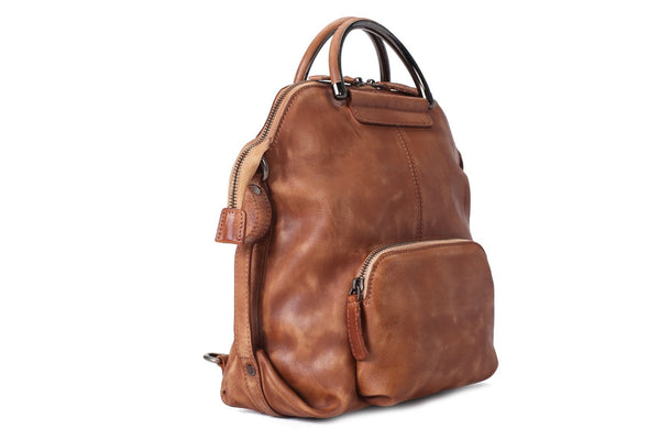 Handmade Full Grain Leather Backpack, Rucksack, Messenger Bag, Shoulder Bag WF57 - Mr James Store