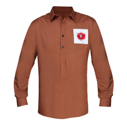 England Overhead Shirt - Brown - Mr James Store