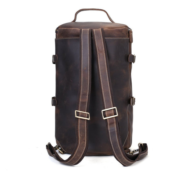 Handmade Vintage Leather Backpack, Travel Backpack, Messenger Bag, Sling Bag Z106 - Mr James Store