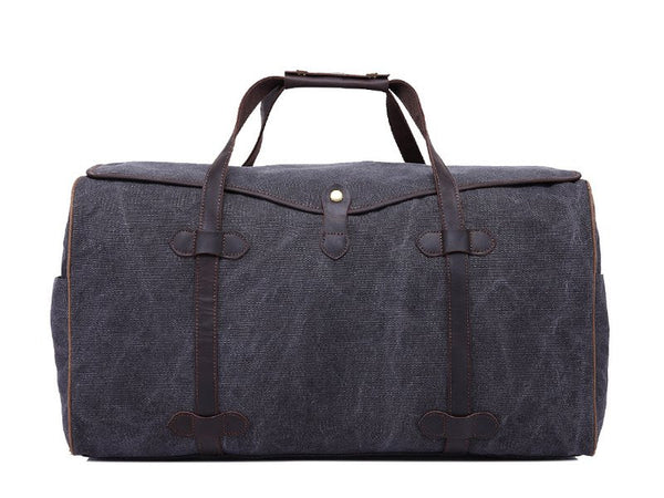 Waterproof Waxed Canvas Leather Trim Travel Tote Duffel Handbag Weekend Bag Overnight Duffle YD3175 - Mr James Store