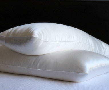 -Filled Pillow with Silk Shell