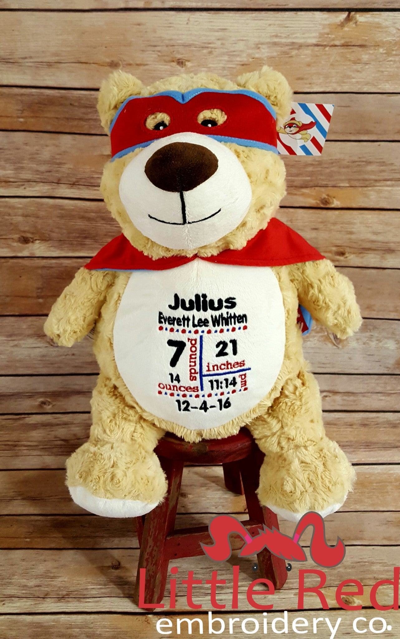 Cubbies™ Hero Bear Stuffie with Custom Embroidery