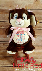 Cubbies™ Chocolate Brown Bunny Stuffie with Custom Embroidery