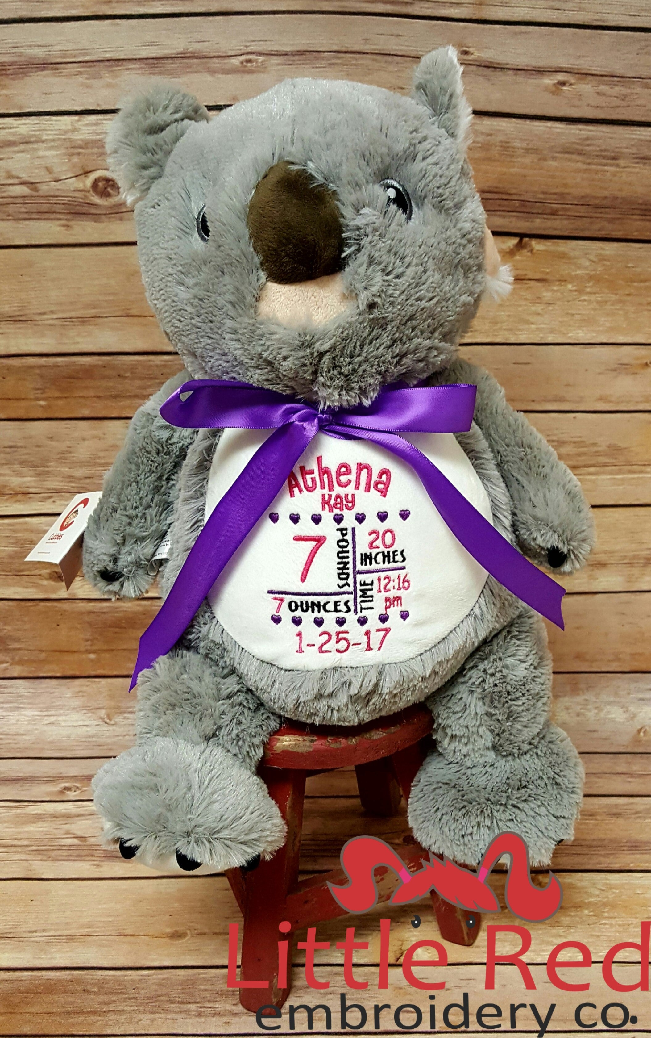 Cubbies™ Koala Bear Stuffie with Custom Embroidery
