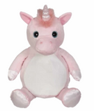Embroider Buddy Pink Unicorn Stuffie with Custom Embroidery