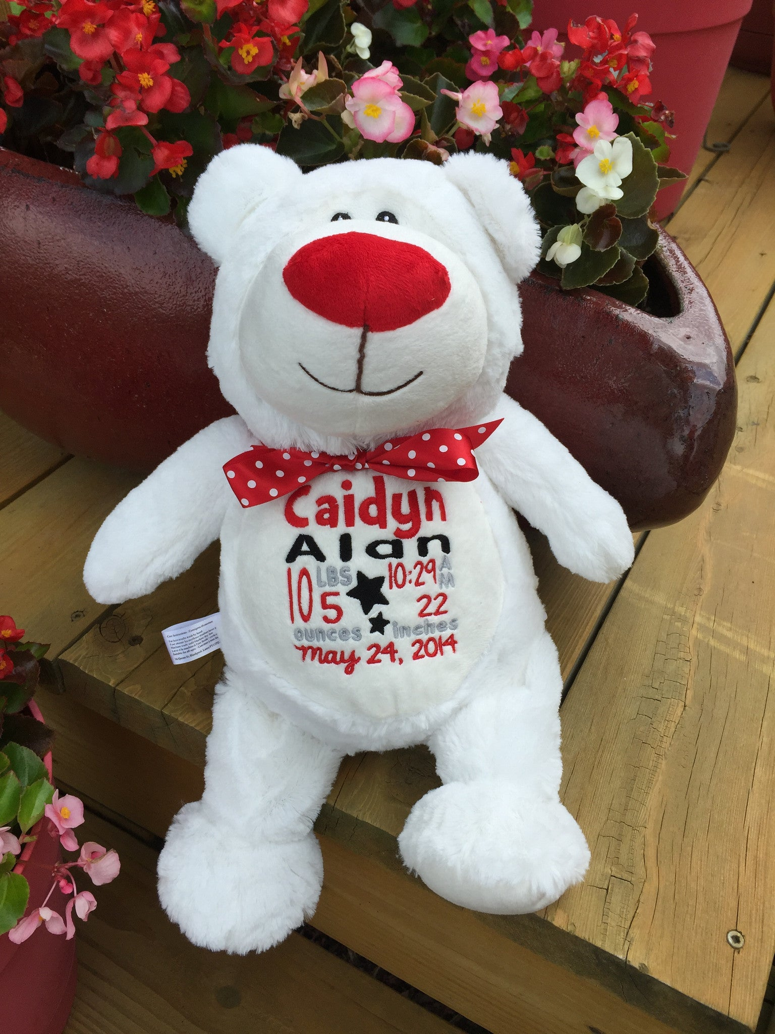 Cubbies™ White Bear Stuffie with Custom Embroidery