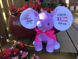 Cubbies™ Lavender Dumble Elephant with Custom Embroidery