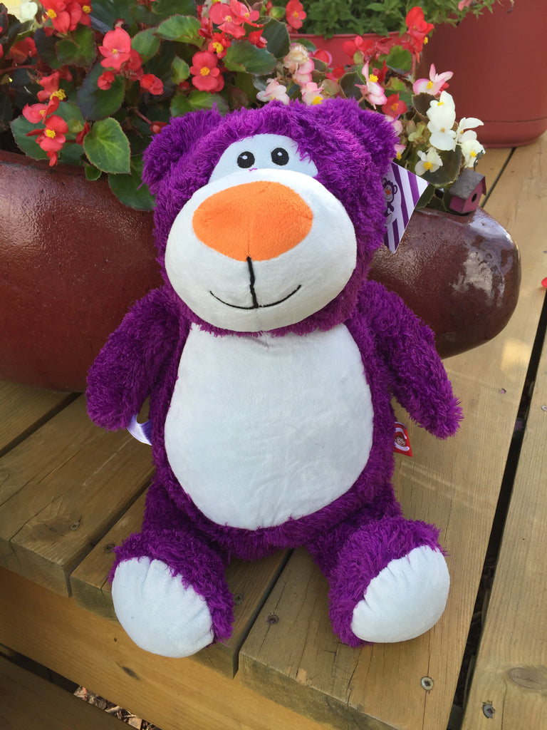 Cubbies™ Purple Bear Stuffie with Custom Embroidery