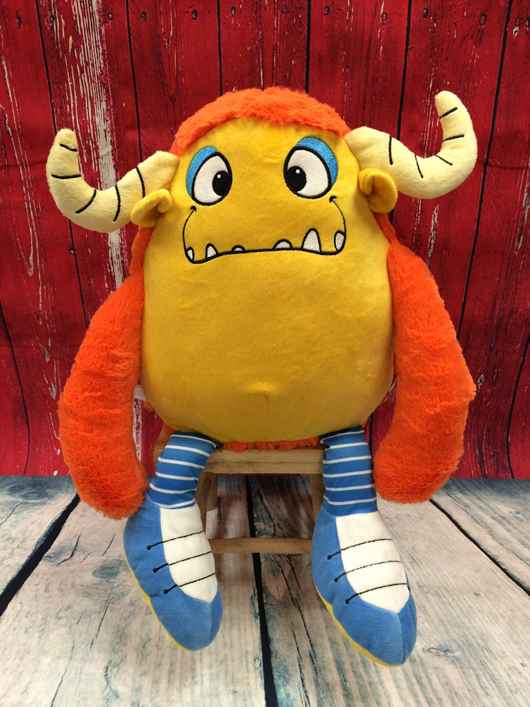 Cubbies™ Yellow Monster Stuffie with Custom Embroidery