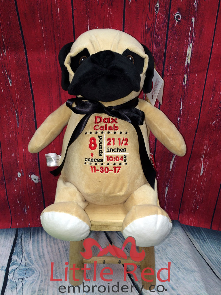 Cubbies™ Pug Stuffie with Custom Embroidery
