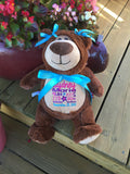 Cubbies™ Brown Bear Stuffie with Custom Embroidery