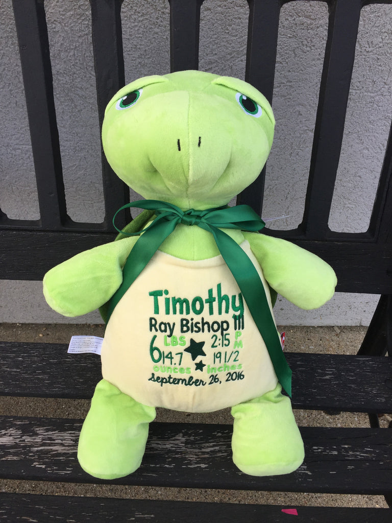 Cubbies™ Turtle Stuffie with Custom Embroidery