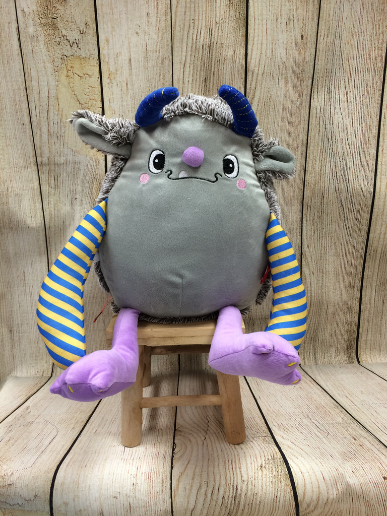 Cubbies™ Grey Monster Stuffie with Custom Embroidery