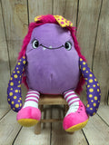 Cubbies™ Pink & Purple Monster Stuffie with Custom Embroidery