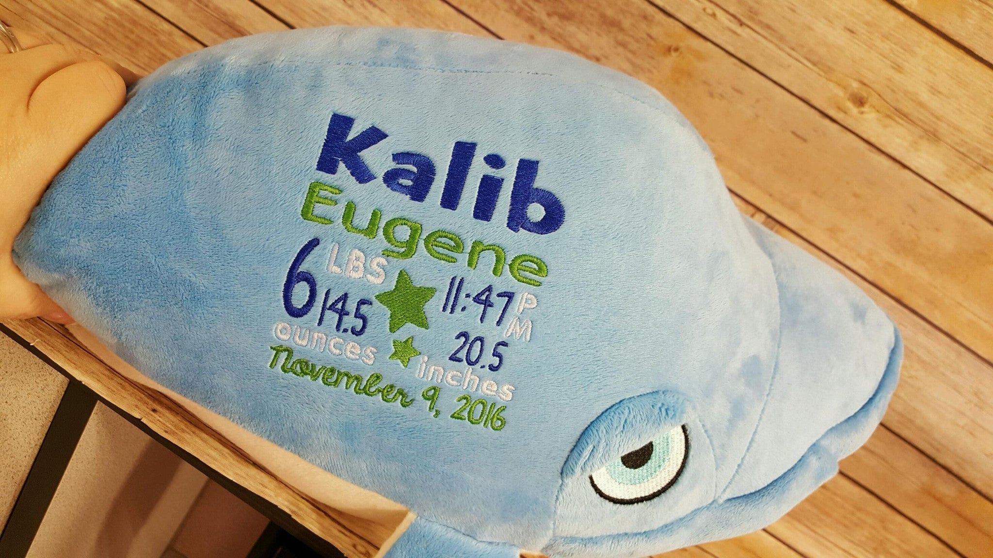 Cubbies™ Whale Stuffie With Custom Embroidery