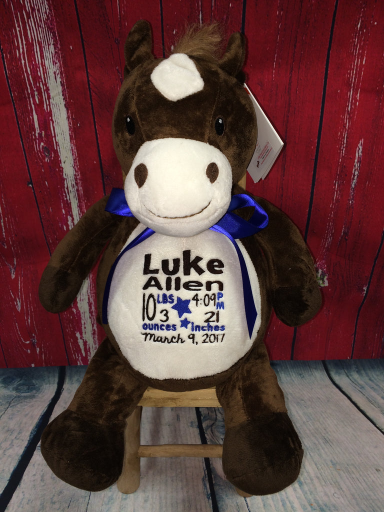 Embroider Buddy Horse Stuffie with Custom Embroidery