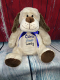 Embroider Buddy Dalton Puppy Stuffie with Custom Embroidery