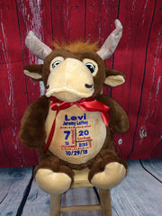 Cubbies™ Moose Stuffie with Custom Embroidery