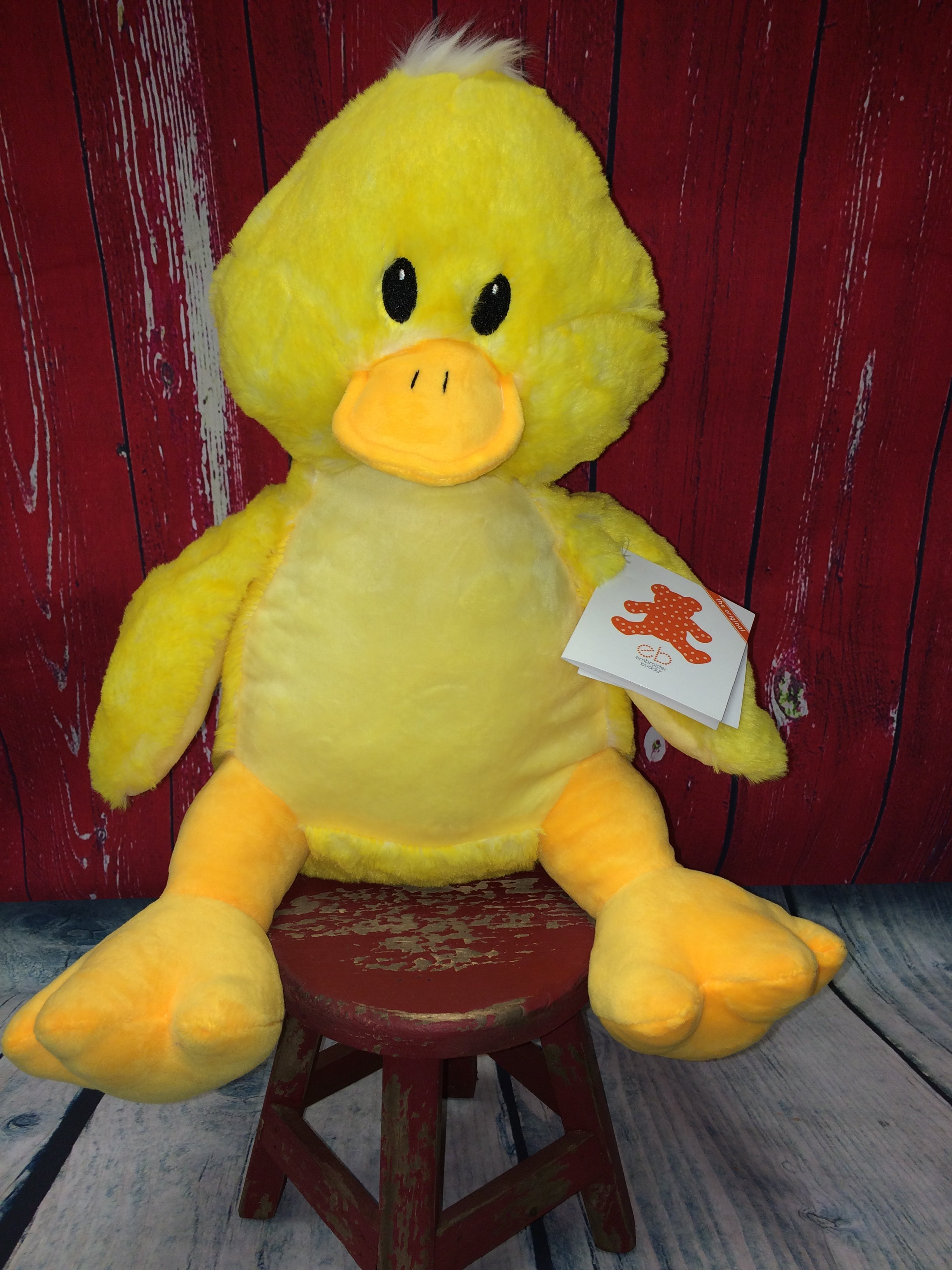 Embroider Buddy Duck Stuffie with Custom Embroidery