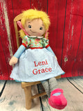 Cubbies Rag Doll with Blonde Hair - custom embroidered!