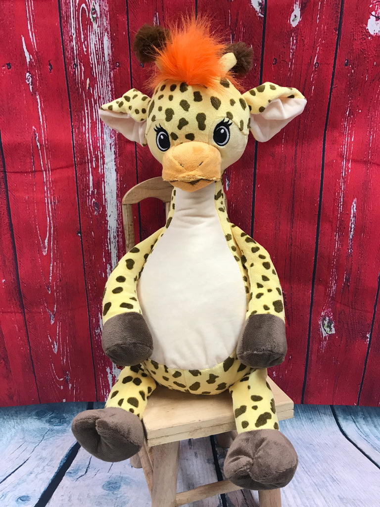 Cubbies™ Signature Collection Yellow Giraffe Stuffie with Custom Embroidery
