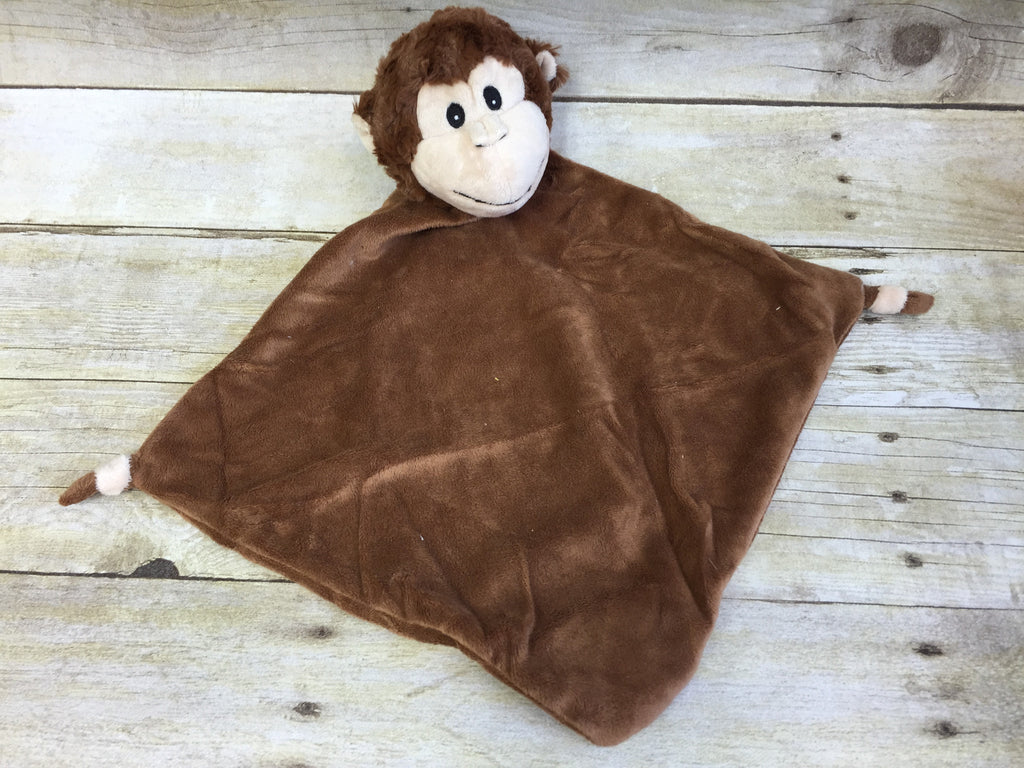 Baby Cubbies Snuggle Buddy Brown Monkey Blanket - custom embroidered!