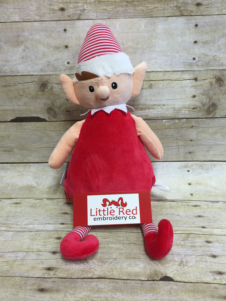 Cubbies™ Red Striped Elf Stuffie with Custom Embroidery