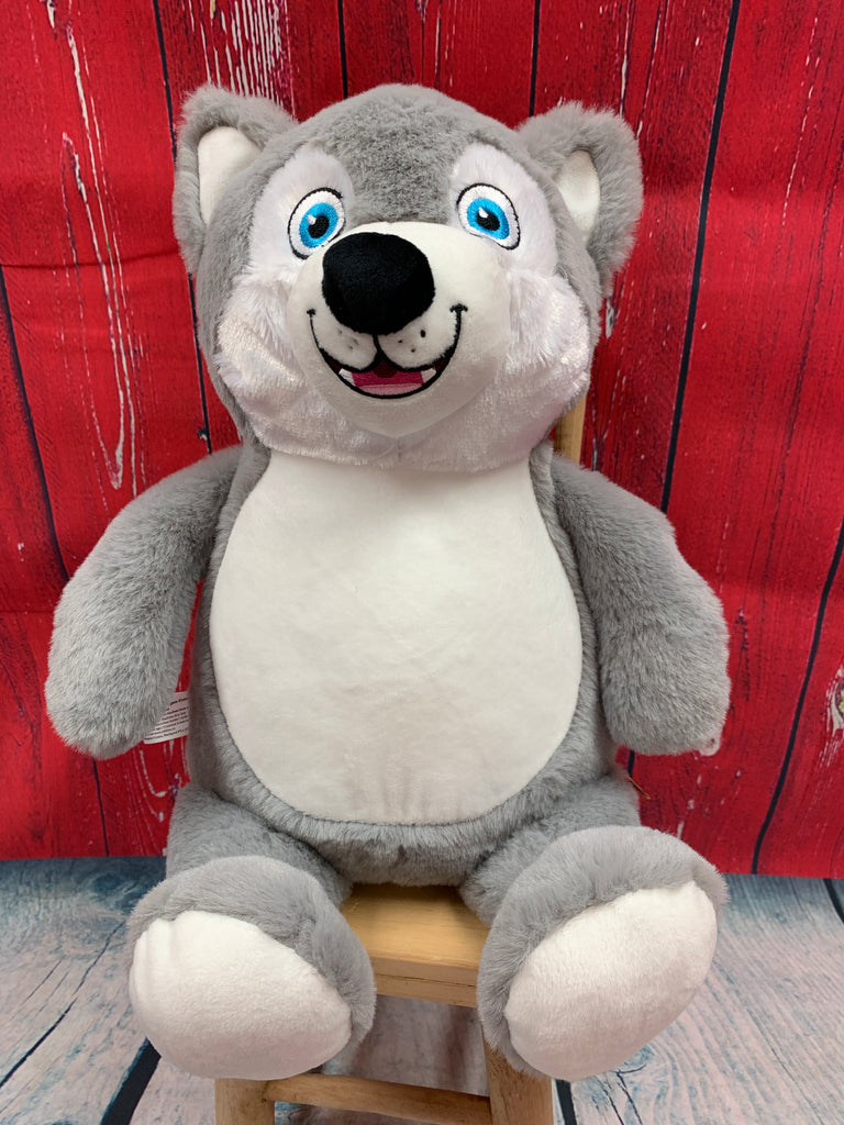 Cubbies™ Husky Stuffie with Custom Embroidery