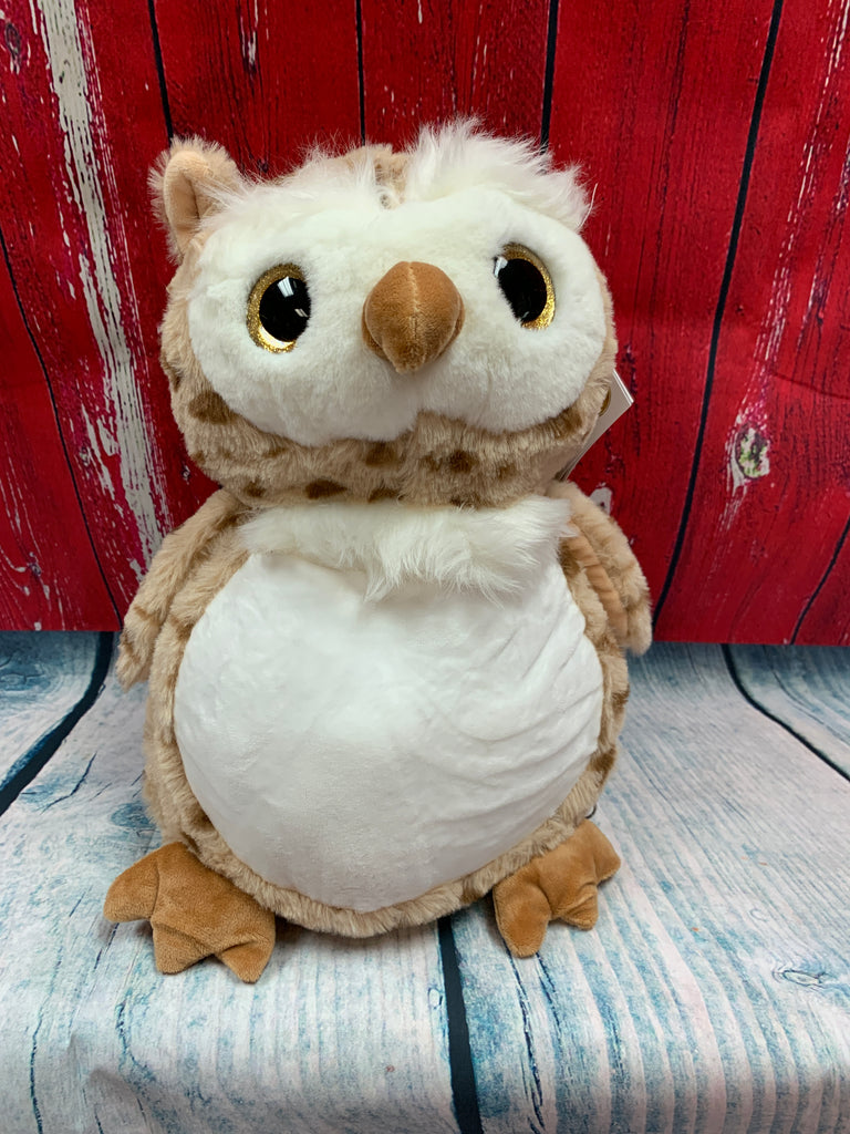 Embroider Buddy Oberon Owl Stuffie with Custom Embroidery