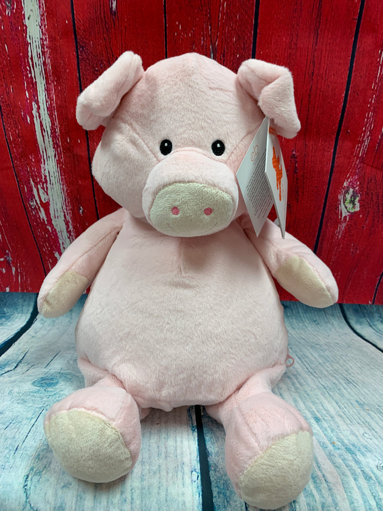 Embroider Buddy Pig Stuffie with Custom Embroidery