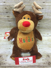 Cubbies™ Brown Reindeer Stuffie with Custom Embroidery