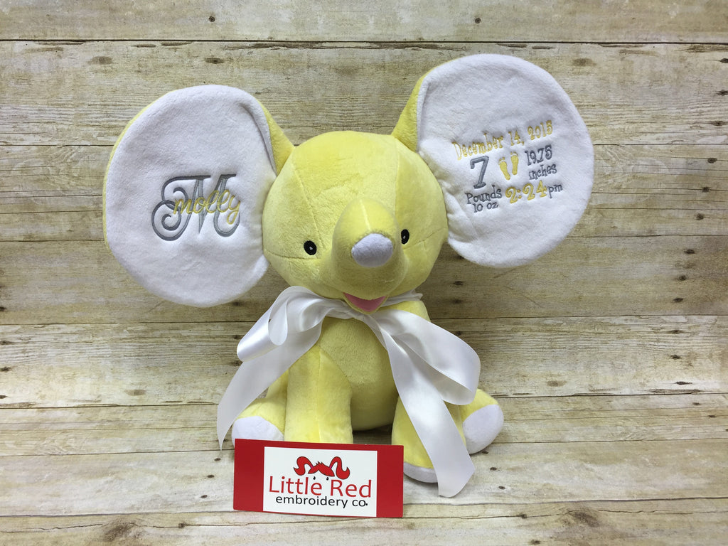 Cubbies™ Yellow Dumble Elephant with Custom Embroidery