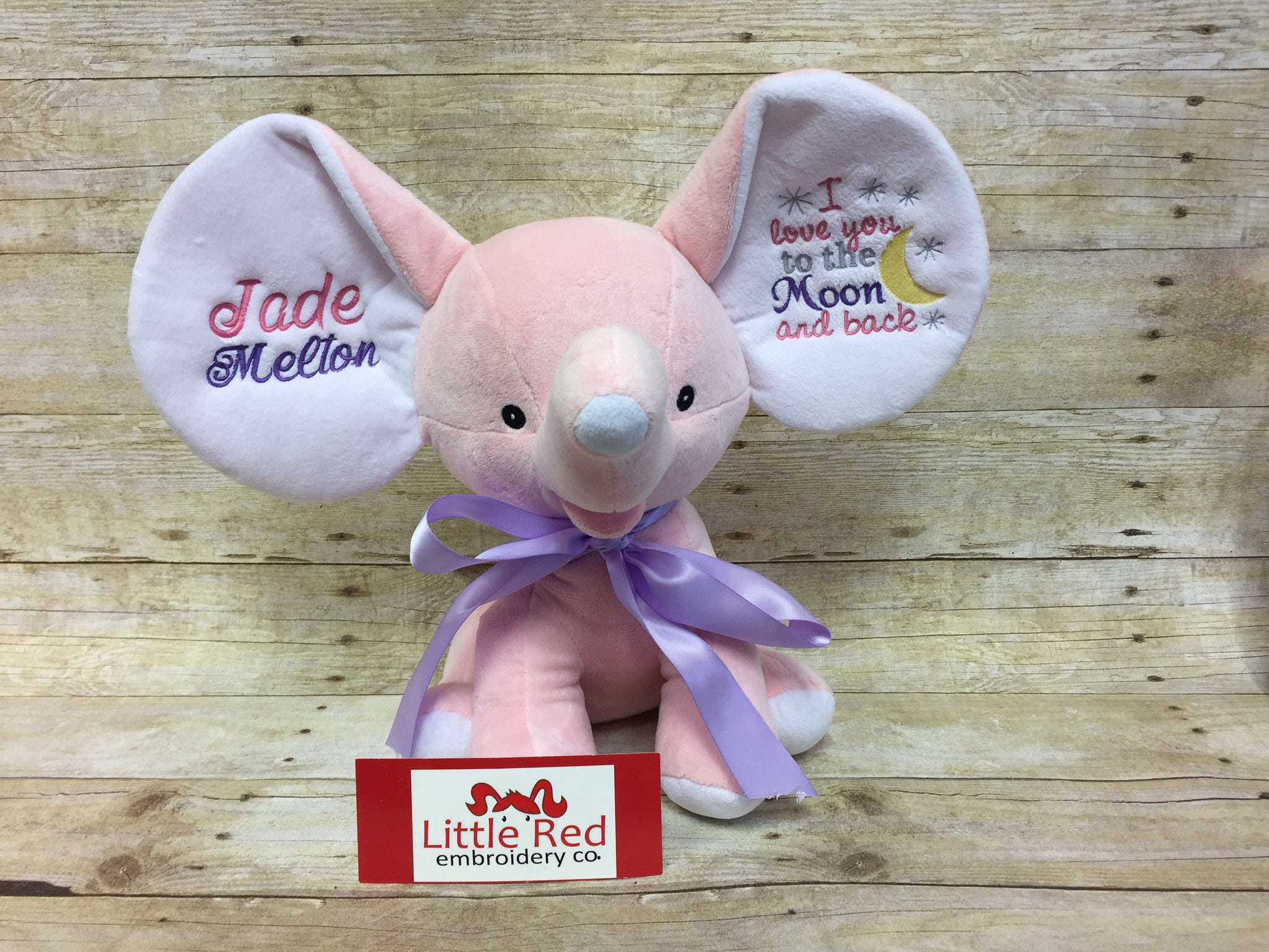 Cubbies™ Light Pink Dumble Elephant With Custom Embroidery