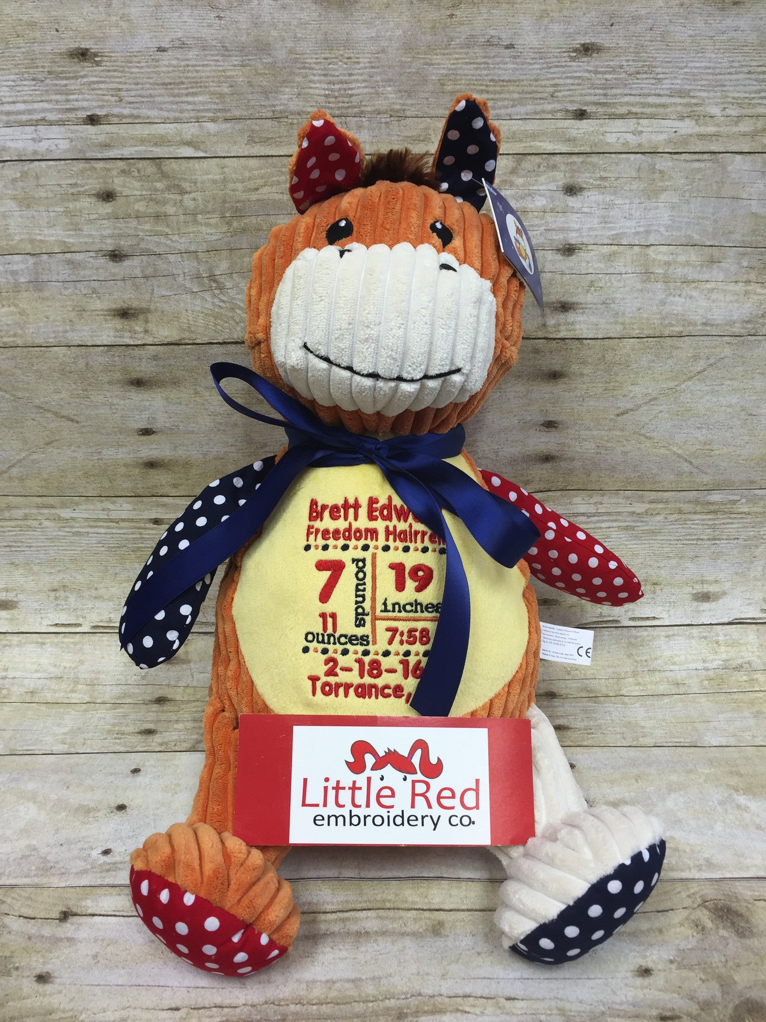 Cubbies™ Harlequin Horse Stuffie with Custom Embroidery