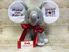 Cubbies™ Grey Dumble Elephant with Custom Embroidery