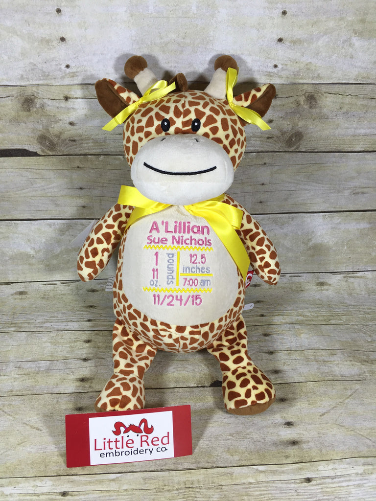 Cubbies™ Tan Giraffe Stuffie with Custom Embroidery