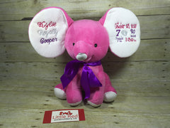 Cubbies™ Hot Pink Dumble Elephant with Custom Embroidery